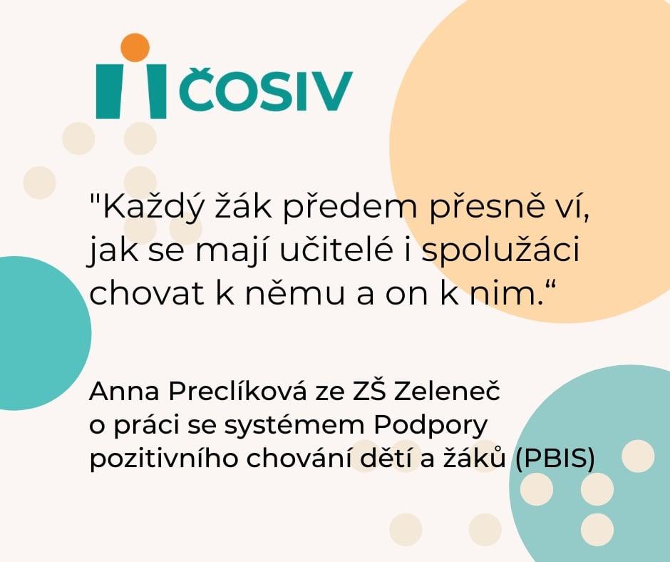 O Podpoře pozitivního chování dětí a žáků (PBIS) píše Deník.cz